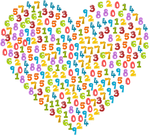 number heart